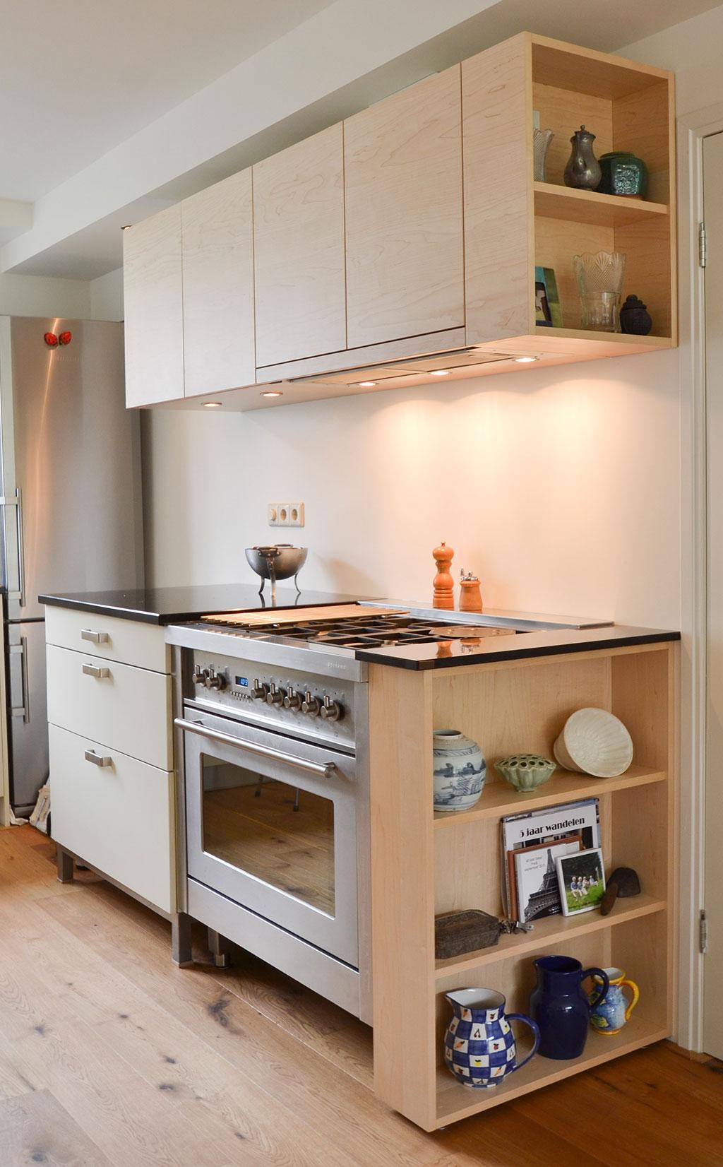 Beste makeover old kitchen with maple wood - Daan Mulder Interior KR-35