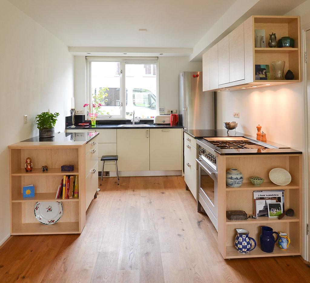 Verwonderend makeover old kitchen with maple wood - Daan Mulder Interior GL-12